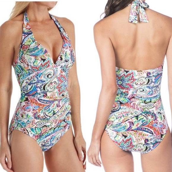 34f2bc1aa3e38 Lauren Ralph Lauren Swim | Ralph Lauren Slimming Halter One Piece ...